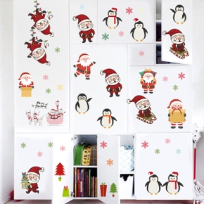 Christmas Small Patch Stricker Wall Decor (6pcs Set )