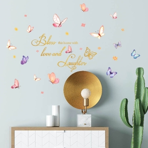 Happy Color Butterfly Wall Stickers Living Room Bedroom Background Wall Decoration Wall Stickers
