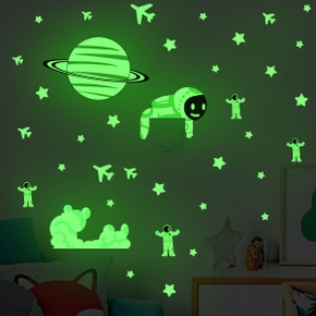 Switch Wall Sticker Luminous Stars Universe Starry Sky Airplane Wall Stickers Living Room Bedroom Decoration Durable