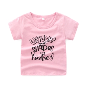 baby girl tee lettre casual