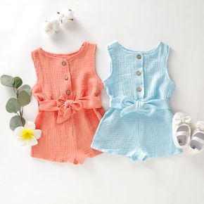 Baby Solid Button Front Bodysuit