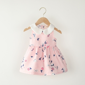 Baby Doll Collar Floral Dresses