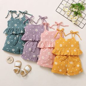 2-piece Toddler Girl Daisy Print Camisole and Shorts Set