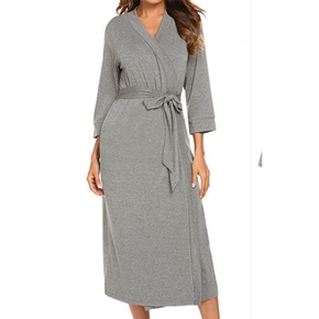 Casual Solid Maternity Robe