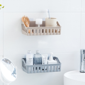 Hollow Out Sticky Wall Storage Rack