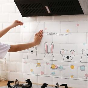 Kitchen oil-proof Wall Stickers Household Wallpaper Kitchen Stickers Foil Fumes Home Decor Heat Resistant Waterproof Wall Decals