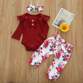 Baby Girl Sweet Floral Baby's Sets