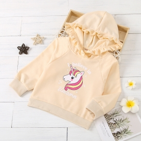 Baby / Toddler Unicorn Ruffled Hooded Pullover