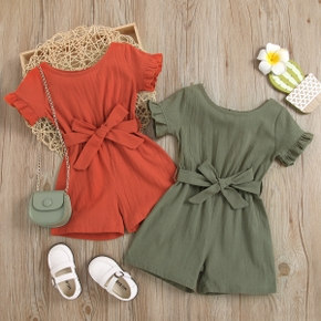 Toddler Girl Casual Solid Jumpsuit
