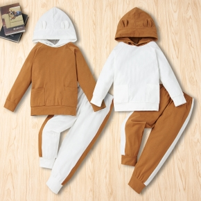 2-piece Baby / Toddler Casual Splice Long-sleeve Top and Pants Set