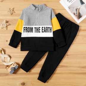 2-piece Baby / Toddler Letter Sporty Top and Pants Set
