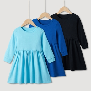 Baby / Toddler Girl Casual Solid Dress