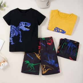 2pcs Kid Boy Short-sleeve Dinosaur Shorts Suit casual Suits