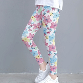 beiläufige Blume allover Leggings