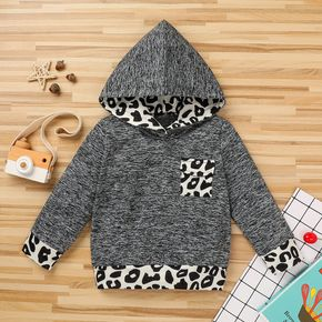 Baby / Toddler Casual Leopard Print Hooded Pullover