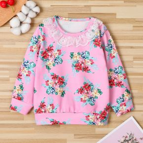 Baby / Toddler Floral Lace Collar Pullover