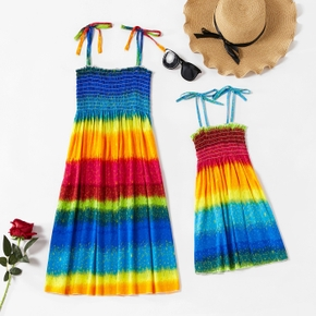 Rainbow Sling Dresses for Mommy and Me
