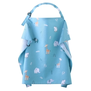 Giraffe Print Maternity Cotton Nursing Cover