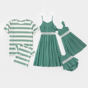 Mosaic 100% Cotton Family Matching Green Sets