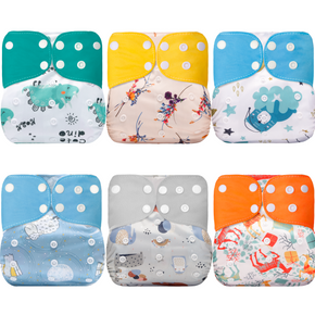 Cartoon Cute Baby Washable Adjustable Cloth Diaper Waterproof Breathable Eco-friendly Diaper