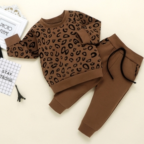 2-piece Baby / Toddler Boy Leopard Print Top and Pants Set