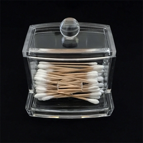 Acrylic nap Swab or Facial Puff Storage Box