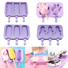 Cute Patterns Silicone Ice Cream Mould