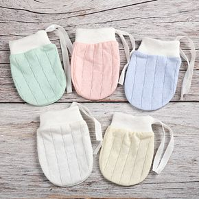 Baby Solid Breathable Cotton Anti-scratch Gloves