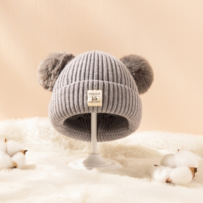 Baby / Toddler Pompon Solid Warm Hat