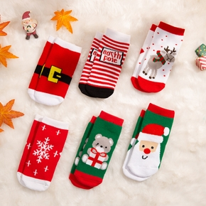 Baby / Toddler Christmas Cartoon Thermal Socks ( Various colors )