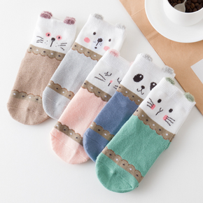5-pack Baby / Toddler Cartoon Middle Socks
