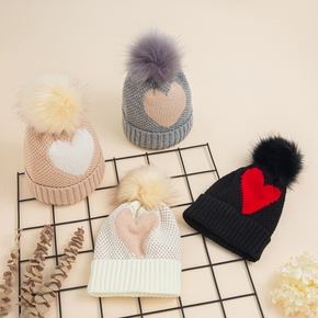 Baby / Toddler Pompon Love Knitted Hat