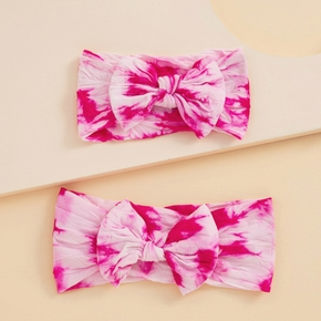 Tie Dye Bowknot Headbands for Mommy and Me