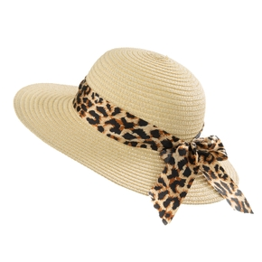 Baby / Toddler Leopard Bowknot Ribbed Hat