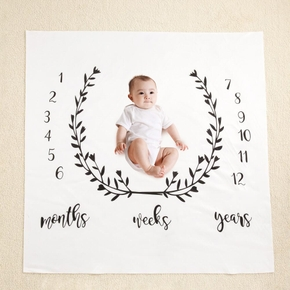 Branches Newborn Infant Photo Background Monthly Growth Cloth Cute Baby Trendy Blanket