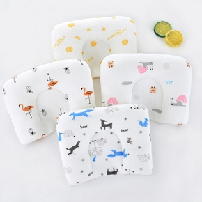 Baby Soft Pillow Infant Cartoon Style Pillow Anti-rollover Velvet Fabric Pillow Stereotypes Sleeping Bedding