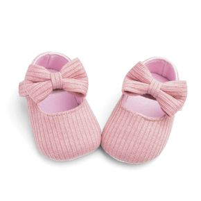 Baby / Toddler Bowknot Knitted Solid Prewalker Shoes