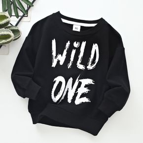 Baby/Toddler Casual Letter Solid Pullover