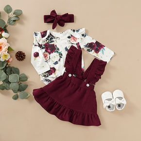 Baby Girl Floral Retro Suit-dress