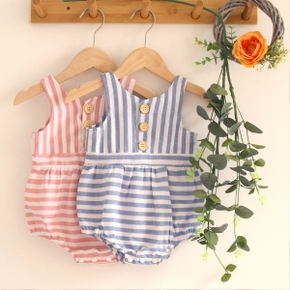 Baby Striped Sleeveless Rompers