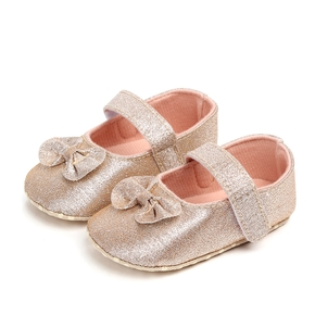 Baby / Toddler Girl Pretty Solid Bowknot Velcro Shoes (Various colors)