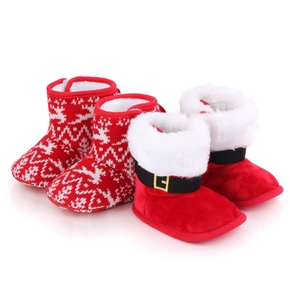 Baby / Toddler Christmas Fluff Casual Cotton Prewalker Shoes