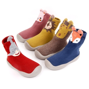 Toddler Animal Pattern Knitted Casual Prewalker Shoes