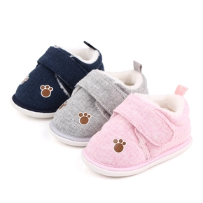 Baby / Toddler Claw Pattern Knitted Fleece-lining Prewalker Shoes