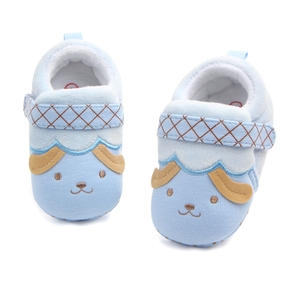 Baby / Toddler Doggy Plaid Ruffled Bowknot Velvet Prewalker Shoes