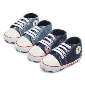 Baby / Toddler Denim Ripped Canvas Prewalker Shoes
