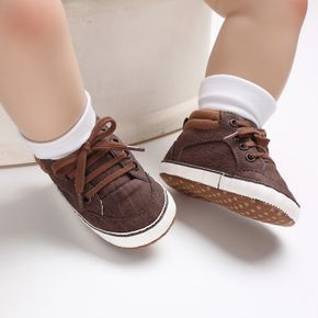 Baby / Toddler Boy Casual Solid Lace-up Ankle Prewalker Shoes