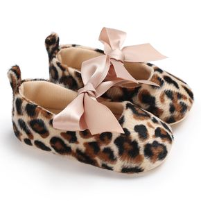 Baby / Toddler Girl Pretty Leopard Print Bow Decor Prewalker Shoes (Various styles)