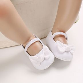 Baby / Toddler Bowknot Print  Solid Prewalker Shoes