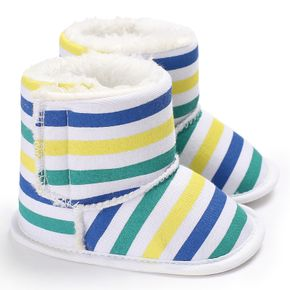 Baby / Toddler Rainbow Striped Fluff Prewalker Shoes